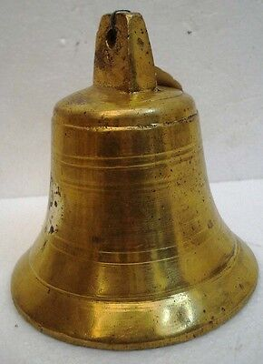 BRASS Bell - Marine / Religion / Spiritual - Height: 6 - Weight: 1.56 (1318)