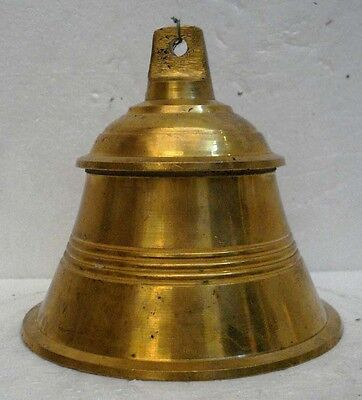 BRASS Bell - Marine / Religion / Spiritual - Height: 6.50 - Weight: 1.86 (1301)