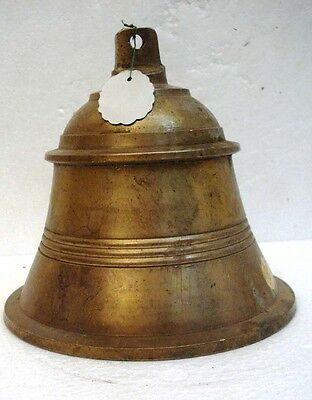 BRASS Bell - Marine / Religion / Spiritual - Height: 9.75 - Weight: 2.4 (1292)
