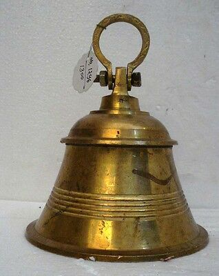 BRASS Bell - Marine / Religion / Spiritual - Height: 8.75 - Weight: 1.9 (1296)