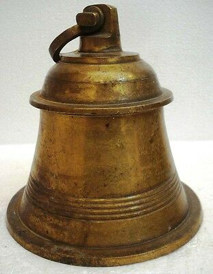 BRASS Bell - Marine / Religion / Spiritual - Height: 11 - Weight: 3.87 (1295)