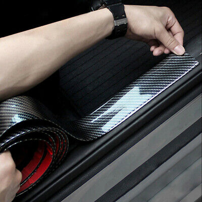 1x 1M Car Carbon Fiber Rubber Edge Guard Strip Door Sill Protector Accessories