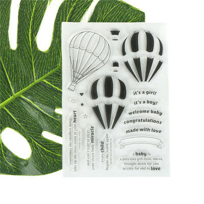 Hot Air ZPalloon Scrapbooking Album Card Decor Diary Craft Clear Stamps ZP