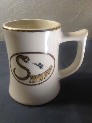 ~Vintage Sidewinder USN Mug with F-14 Tomcat & Snake Tall Heavy Thick Coffee Mug