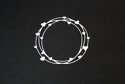 8 x Round Circle Love Heart Scribble Die Cuts Card Making Or Scrapbooking
