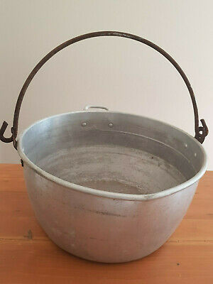Large Aluminium Cooking Pot - 1970's Vintage