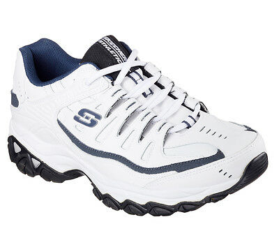 64b09d16456a Skechers After Burn Memory Fit Reprint Mens Shoes Sneakers Size  -12- White
