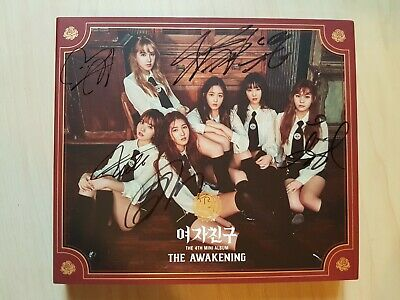 GFriend signed/autographed THE AWAKENING 4th Mini album no photo card / mwave