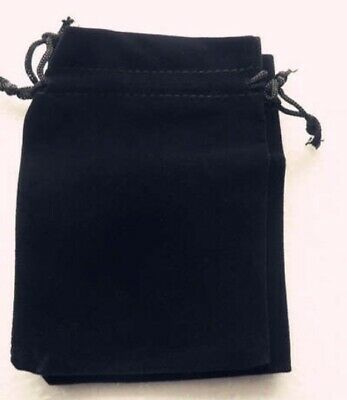 Black Velour Gift Bag Jewellery Packing Pouch Bags 10x12cm Pack Of 5