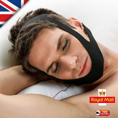 Professional Snore Stop Belt Anti Snoring Brace Chin Strap Apnea Jaw Solution UK