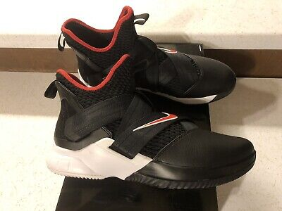 3aa1eac0cf0e Nike Lebron Soldier 12 XII Bred Men s Size 10 AO2609-001 Black Red White