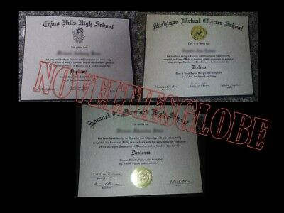 High School Diploma (Novelty Purpose) Free Shipping