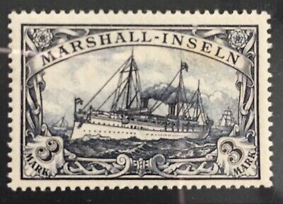 Germany 1901 Dominion of Marshall Islands 3RM Sailing Ship MLH
