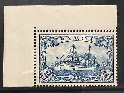 Germany 1901 Dominion of Samoa 2RM Sailing Ship MNH