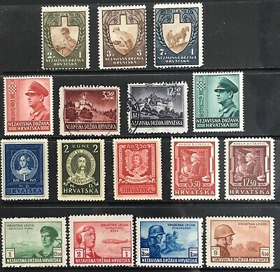 Germany: Occupied Croatia 1943 issues MNH & Used