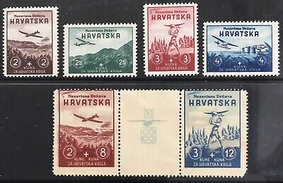 Germany: Occupied Croatia 1942 Croatian Wings MNH