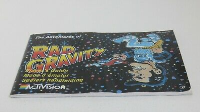Rad Gravity - NES manual only