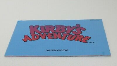 Kirby's Adventure - NES manual only
