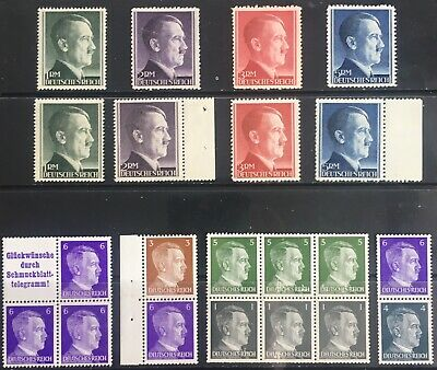 Germany Third Reich 1941-1944 Hitler issues MNH/MLH