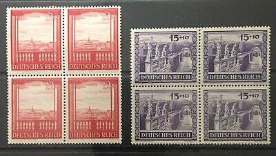 Germany Third Reich 1941 Vienna Fair & Hitler's Culture Fund Blocks of 4 MNH
