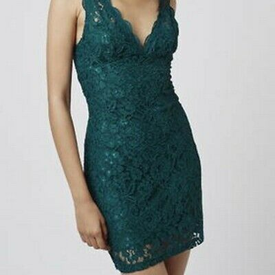 417ce34da4 Brand new with tags - Topshop lace bodycon dress - Teal green - Size UK 8