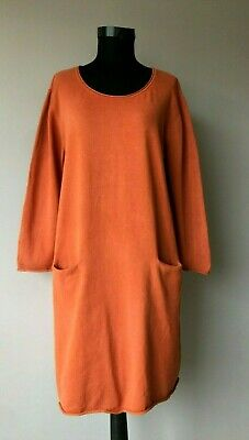 Gudrun Sjoden Womens  Knitted Dress Size XL 100 % cotton