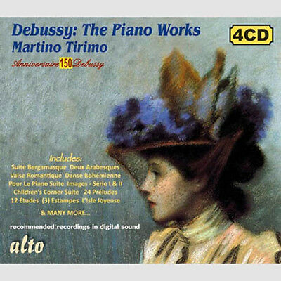 4 Cd Box Debussy Piano Complete Tirimo Preludes Children's Corner Etudes Etc