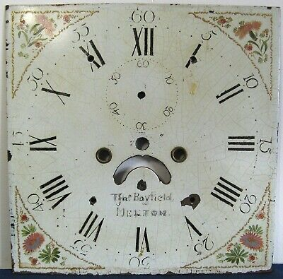 8 Day Painted  Longcase Dial - Circa 1790 - for Restoration