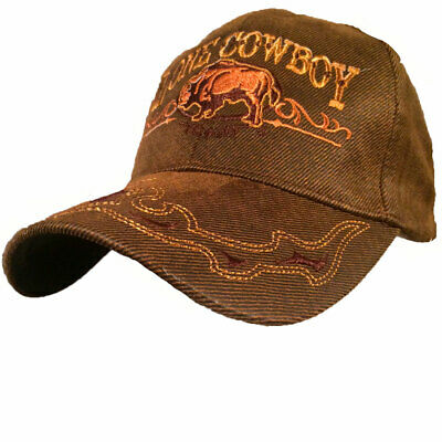CASQUETTE USA- WESTERN - COUNTRY -lone cowboy bison color marron  homme/femme