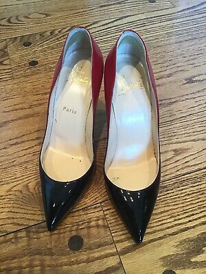af75380f09c CHRISTIAN LOUBOUTIN FIFI Nude Patent Leather Pumps 100mm Size 9.5 ...