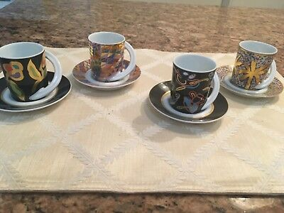 Rosenthal Demitasse set of 4 cups & saucers, Numbered pieces