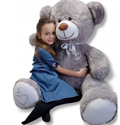 160 cm ! GIANT TEDDY BEAR LARGE BIG HUGE STUFFED grey BIRTHDAY WEDDING  GIFT !