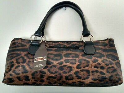 PRIMEWARE, INC. COUGAR Insulated WINE CLUTCH/PURSE/BAG FULLY LINED NWT
