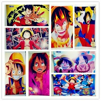 Anime One Piece Poster Luffy Zoro Wall Art Home Decor 16.5x11.25 Inches