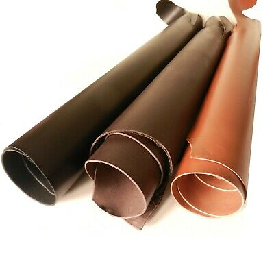 3.5Mm Thick Veg Tan Craft Tooling Leather Black Or Brown Cowhide