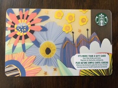 "Canada Series Starbucks ""SPRING FLOWERS 2018"" Gift Card New No Value"