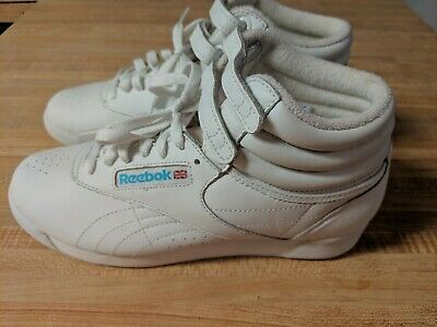 ae486328802 Vintage Original Reebok Classic Sneakers~White High Top~Shoes~Womens Size  6.5.