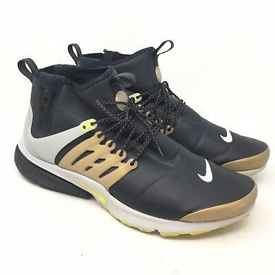 newest collection e07c4 85fb9 Nike Air Presto Mid Utility Black Gold Yellow Shoes 859524-002 Size 13 J2A