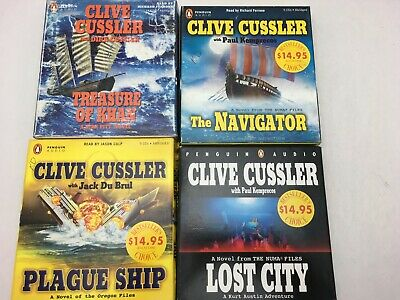 Lot: 3 CLIVE CUSSLER Action Adventure Thrillers AUDIO BOOKS CD