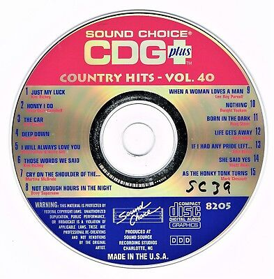 Sound Choice Karaoke Sc-8205 - Country Hits Vol 40 - Original Spotlight Cd+G Oop