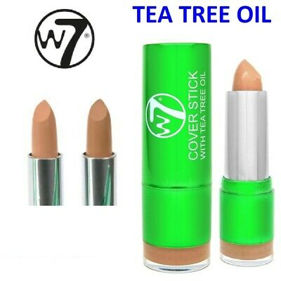 W7 Concealer Corrector Cover Up Stick with Tea Tree Oil Foundation Light Medium