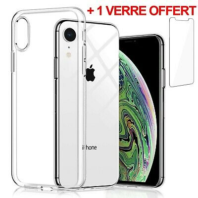 PROTECTION VITRE VERRE TREMPE 9H COQUE HOUSSE ETUI TPU GEL IPHONE 6 7 8 XS Max