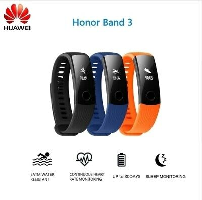 Original HUAWEI Honor Band 3 Fitness Tracker Pedometer Cardiofrequenzimetro HRT