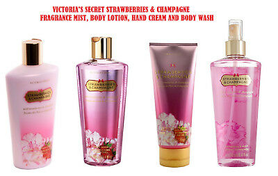 Victoria's Secret Strawberries and Champagne Mist, Lotion,Hand & Body Cream,Wash
