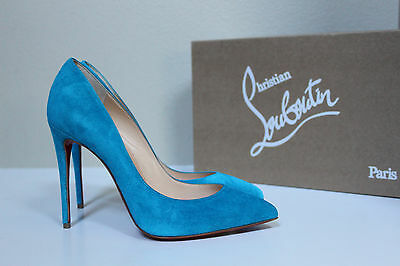 another chance 5c0a8 ad4b8 CHRISTIAN LOUBOUTIN PIGALLE Follies Blue Suede Pointy Toe ...