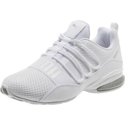 1f6f0ace232 PUMA CELL REGULATE Sl Mens White Leather Athletic Lace Up Running ...