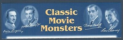 3168-72 Classic Movie Monsters Selvage (No Stamps) Free Shipping