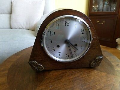 Anvil Wooden 8 Day Striking Mantle Clock Fwo