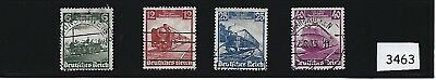 Complete stamp set / 1935 Historic TRAINS / Nazi Germany / Full Third Reich set