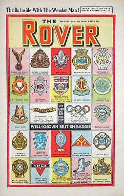 ROVER - NEW YEAR 1949 !! 1st JANUARY 1949 -RARE 70 YEAR OLD CLASSIC !! VFN dandy